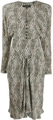 Isabel Marant Polka-Dot Long-Sleeve Dress