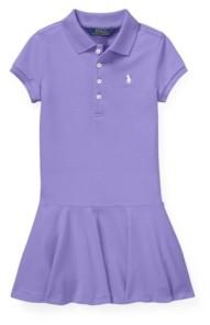 Polo Ralph Lauren Toddler Girls Stretch Pique Polo Dress