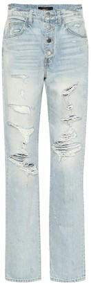Amiri Slouch Destroyed high-rise jeans