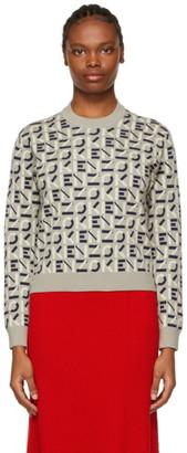 Kenzo Taupe Jacquard Sport Monogram Sweater