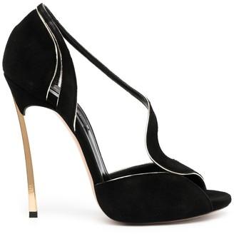 Casadei Suede Stiletto Heel Sandals