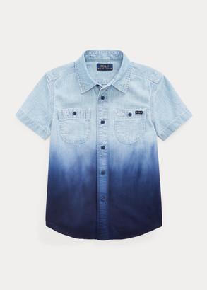 Ralph Lauren Dip-Dyed Cotton Chambray Shirt
