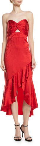 Shoshanna Amalia Strapless Mermaid Gown in Satin Jacquard