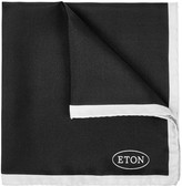 Eton Black Silk Twill Pocket Square