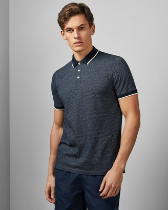 Ted Baker HARBOR Cotton striped polo shirt