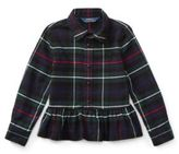 Ralph Lauren Little Girl's Tartan Cotton Peplum Shirt