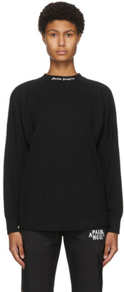 Palm Angels Black Long Sleeve Classic Logo T-Shirt