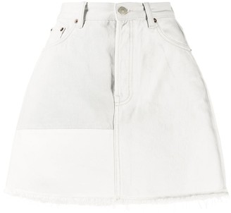 Acne Studios Recrafted patchwork denim mini skirt