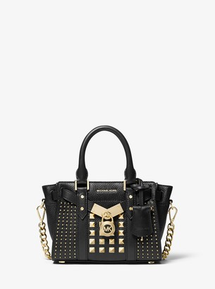 MICHAEL Michael Kors Nouveau Hamilton Extra-Small Studded Pebbled Leather Crossbody Bag