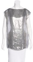 Lanvin Metallic Sequin Print Blouse