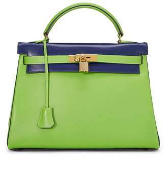 Hermes Apple & Blue Roy Bicolor Gulliver Kelly Retourne 32