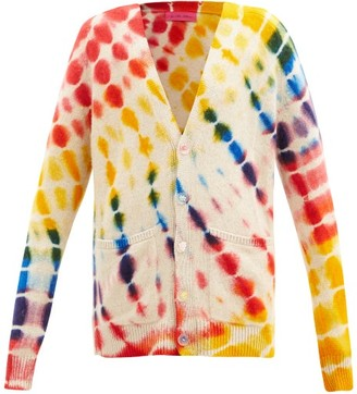 The Elder Statesman Illusion Tie-dye Cashmere Cardigan - Cream Multi