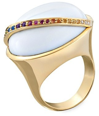 Robinson Pelham Bell 18K Yellow Gold & Multi-Stone Cocktail Ring