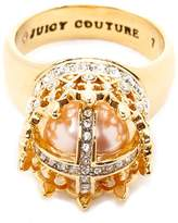 Juicy Couture Pink Pearl Crown Luxe Wishes Ring