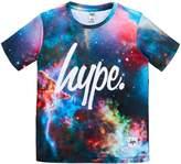 Hype Boys Short Sleeved Nebula Print T-Shirt