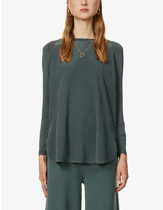 Max Mara Panetto relaxed-fit stretch-silk top