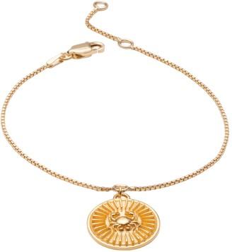 Rachel Jackson London Zodiac Art Coin Cancer Bracelet Gold