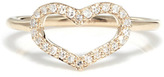 Jordan Askill Diamond Pavé Heart Ring