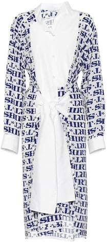 Loewe Asymmetric printed shirt dress