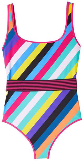 Diane von Furstenberg Striped Swimsuit