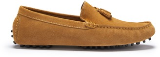 Hugs & Co Tasselled Driving Loafers Tobacco Suede