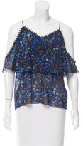 Yigal Azrouel Printed Cold-Shoulder Blouse