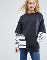 Asos Sweatshirt with Stripe Panels