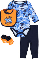 Bon Bebe Blue & Navy Camouflage Bodysuit Set - Infant