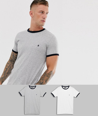 French Connection 2 pack ringer t-shirts