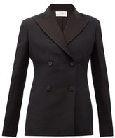 The Row Zori Double-breasted Wool-blend Faille Jacket - Womens - Black