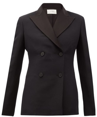 The Row Zori Double-breasted Wool-blend Faille Jacket - Black