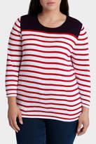 Stripe Hem 3/4 Sleeve Jumper