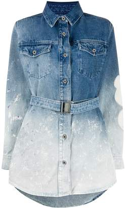 Off-White gradient denim shirt dress