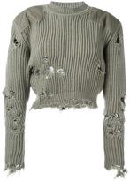 Yeezy destroyed cropped jumper