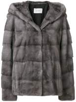 Yves Salomon fitted fur jacket