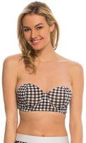Bettie Page Picnic Bandeau Shaped Cup Bikini Top 8137883
