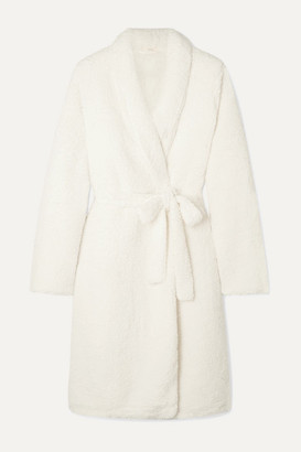 Eberjey The Sherpa Fleece Robe - Ivory