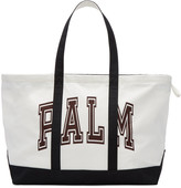 Palm Angels White Canvas Palm Tote