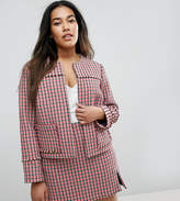 Asos Crop Jacket in Mini Check Co-Ord