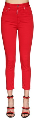 DSQUARED2 Twiggy High Waist Stretch Bull Jeans