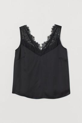 H&M H&M+ Lace-trimmed Top