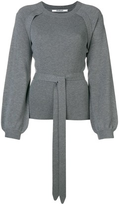 Chalayan Puff Sleeve Ribbed Sweater
