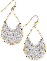 INC International Concepts Snow Queen Gold-Tone Beaded Teardrop Earrings, Only at Macy's