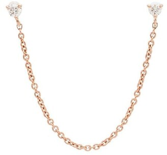 Roxanne First Laura 14kt rose gold diamond earring