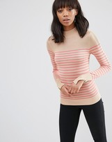 Asos Sweater With Turtleneck in Stripe in Soft Yarn