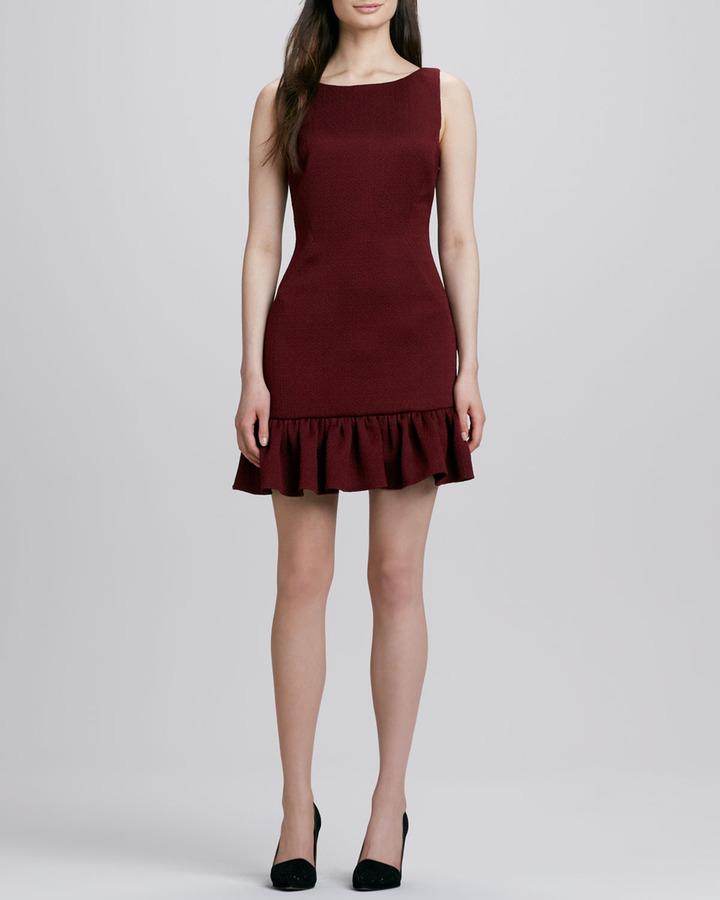 Rachel Zoe Aurora Ruffle-Hem V-Back Dress