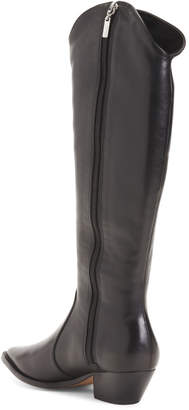 Made In Brazil Leather Tall Shaft Western Boots