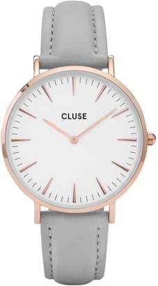 Cluse La Boheme CL 8015 Leather Analog Watch