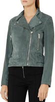 Reiss Grace Suede Biker Jacket