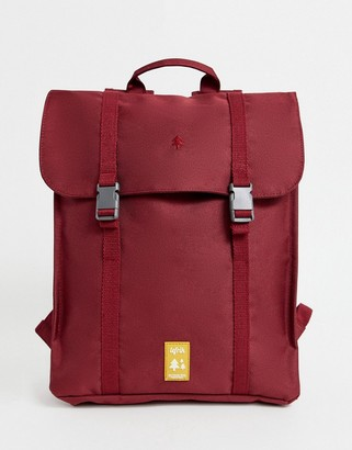 Lefrik Handy recycled backpack in burgundy